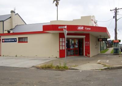 Supermarket and pharmacy