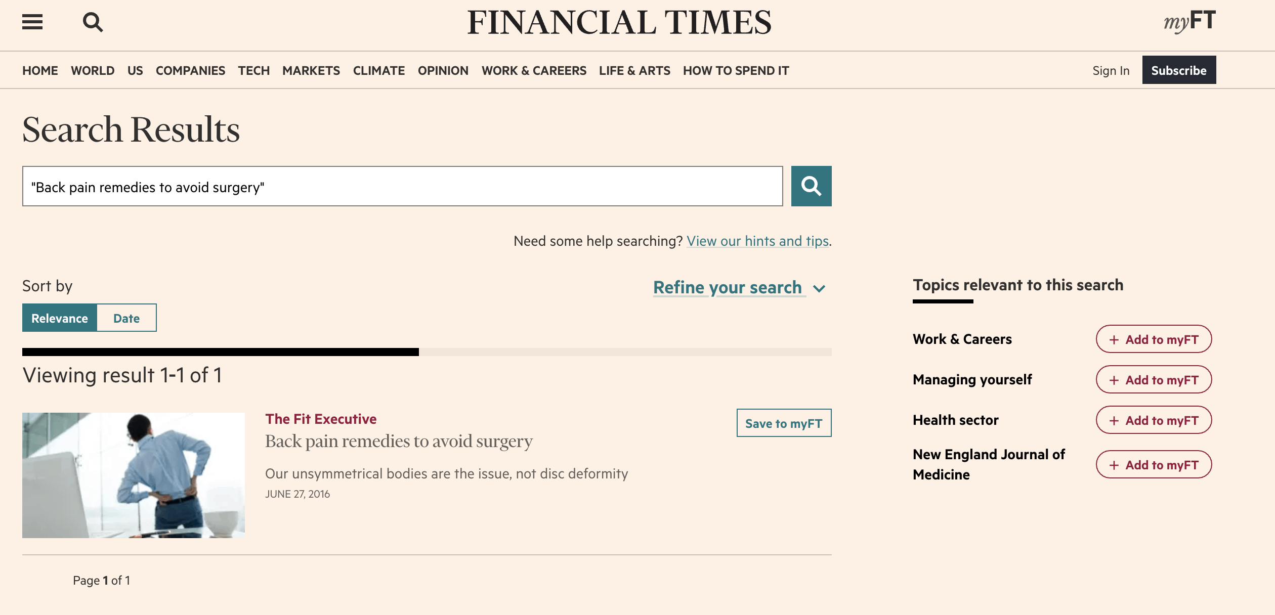 Financial Times The Fit Executive